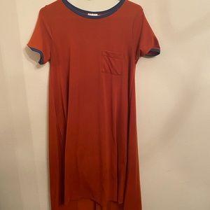 Burnt orange lularoe dress